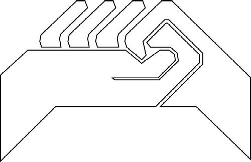 logo CGT manos (blanco)