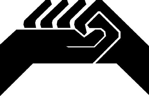 logo CGT manos negro