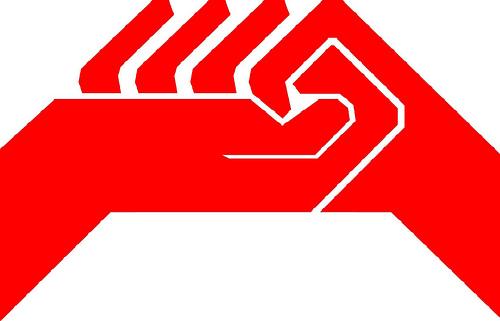 logo CGT manos rojo