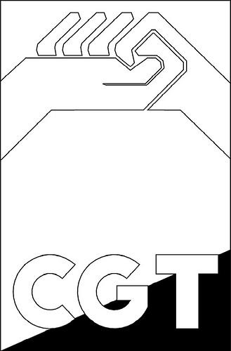 Logotipo CGT (en blanco y negro 2)