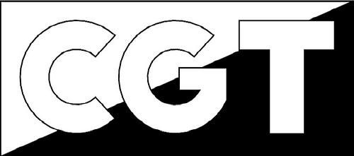 Logotipo CGT letras (en blanco y negro)
