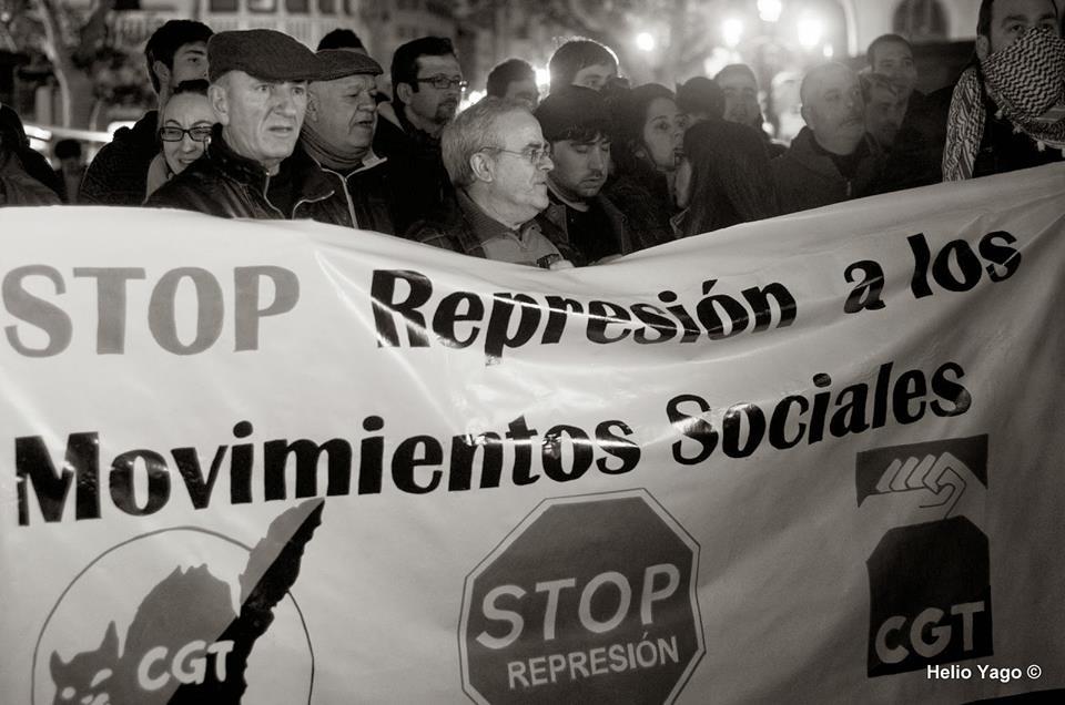 La CGT en la protesa de Valencia