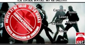 31-J: Concentración contra la represión a los movimientos sociales