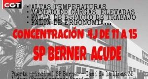 4-j Aldaia: CGT es mobilitza contra la deterioració continuada de les condicions de treball en SP Berner