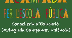 La Trobada de Plataformes Comarcals per l'escola pública convoca una acampada en Conselleria
