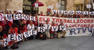 [Fotos] Concentración en Valencia contra el cierre de Canal 9