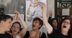 Crida a una jornada de solidaritat  amb les 595 treballadores de la neteja del ministeri de Finances grec