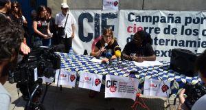 Portaveus de la plataforma 'Cies No' en roda de premsa