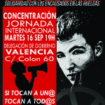 16-s València: Concentració Jornada Internacional per la llibertat d'Alfon i en solidaritat amb les encausades per les vagues