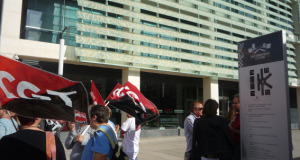 Una de les concentracions realitzades per la plantilla de Neteges del Complex 9 d'Octubre a València