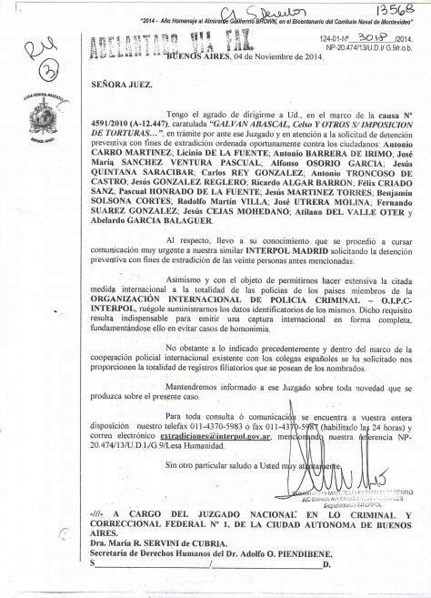 Document de la Interpol argentina.