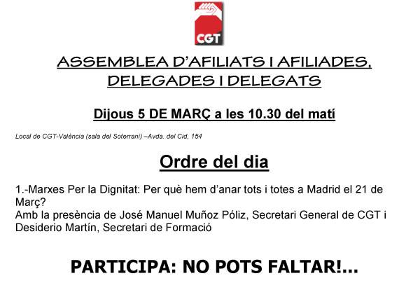 CONVOCATORIA ASAMBLEA DE AFILIATS I AFILIADES