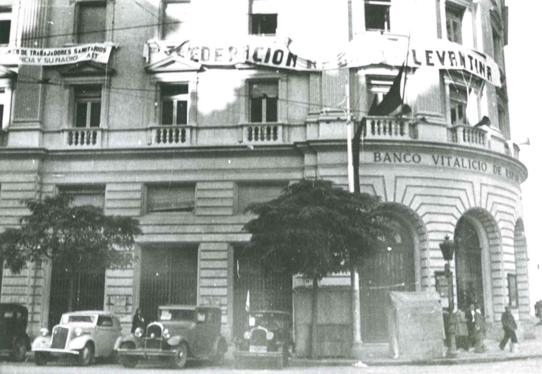 """""""La casa dels sindicats i de la Federació CNT"""" (1936)"""