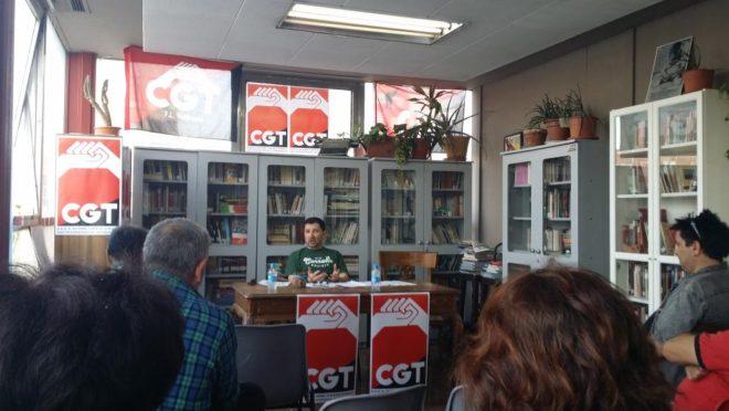 """Carlos Monty habalndo de """"La Marihuana y las luchas sociales en el Siglo XXI"""" en CGT-Valencia"""