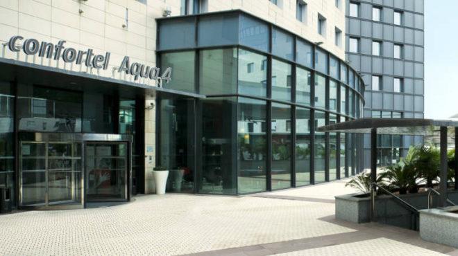 Hotel gestionado por Ilunion en el complejo comercial y hotelero Aqua Multiespacio